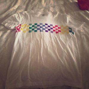 VS PINK Short sleeve checkered  T-shirt